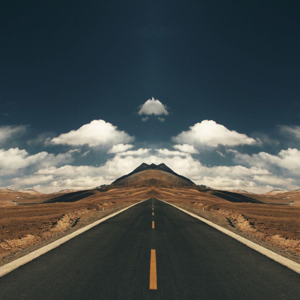 Kaleidoscope layout, instagram, open road