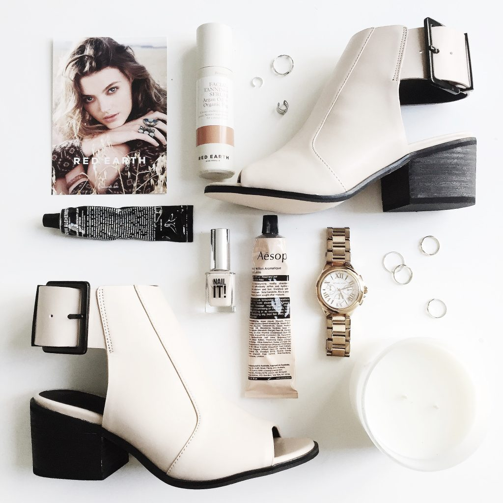 Instagram flat lay, shoes, watch