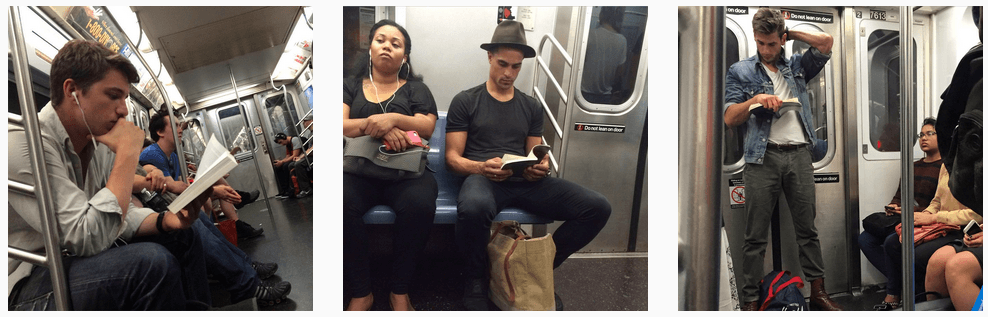 Instagram, hot dudes reading