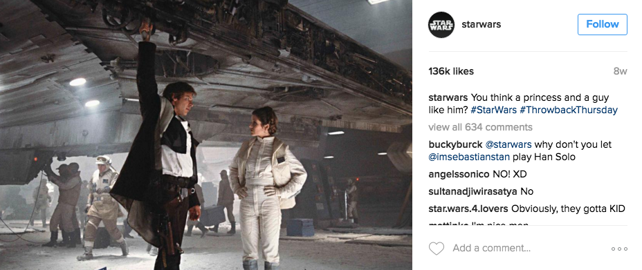 starwars throwback instagram