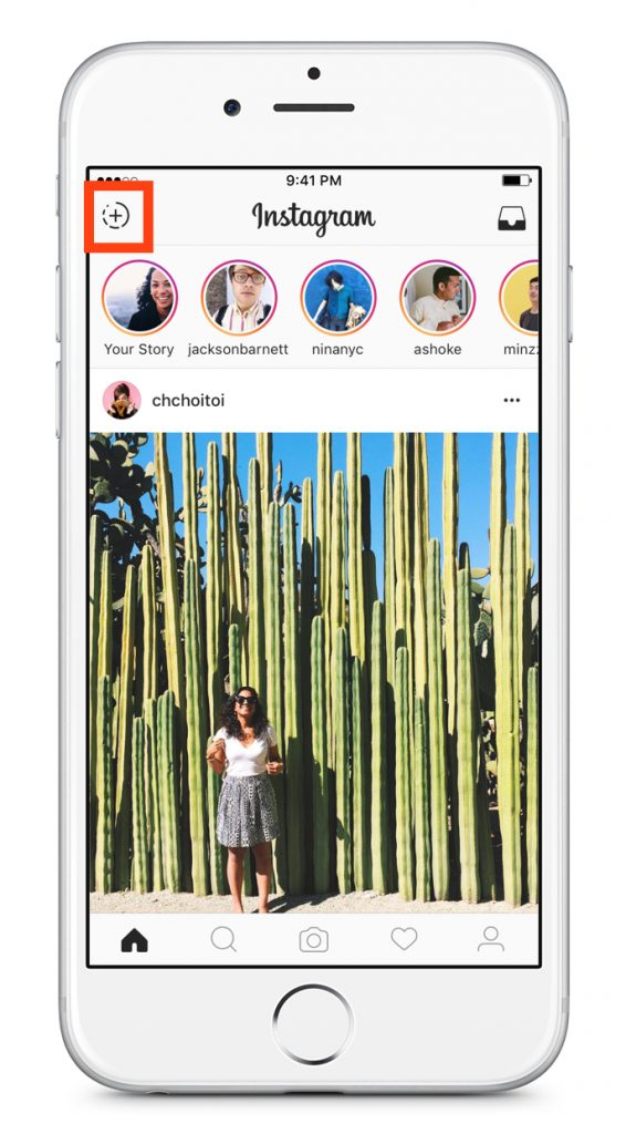 create a new instagram story